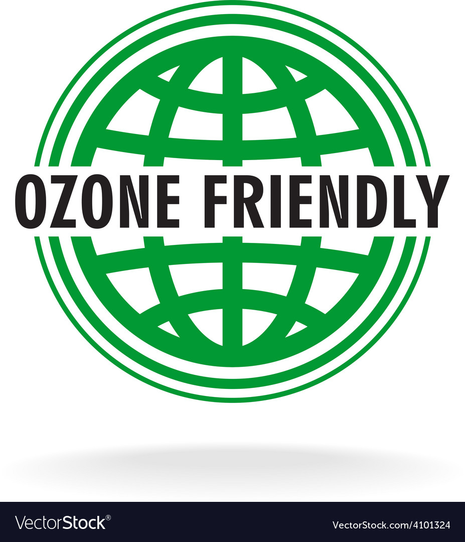 Ozone friendly sign globe green symbol vector | Price: 1 Credit (USD $1)