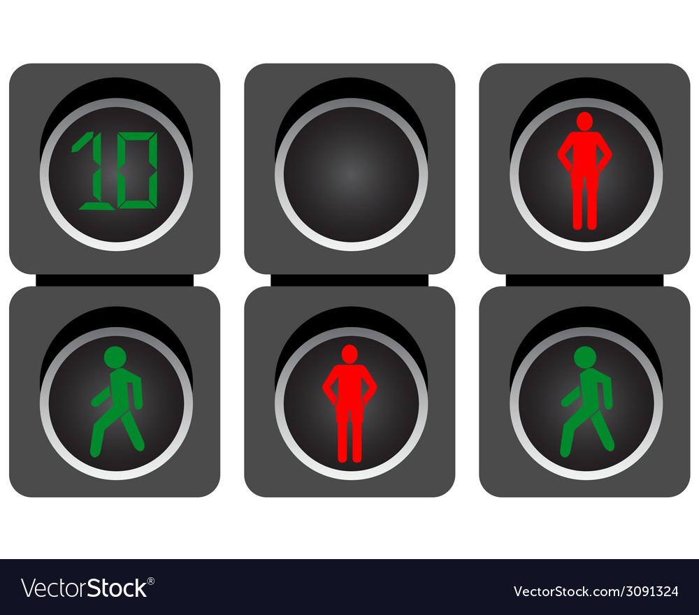 Pedestrian traffic lights vector | Price: 1 Credit (USD $1)