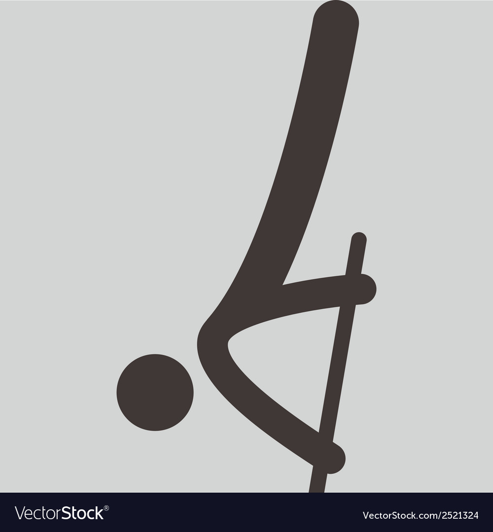 Pole vault icon vector | Price: 1 Credit (USD $1)
