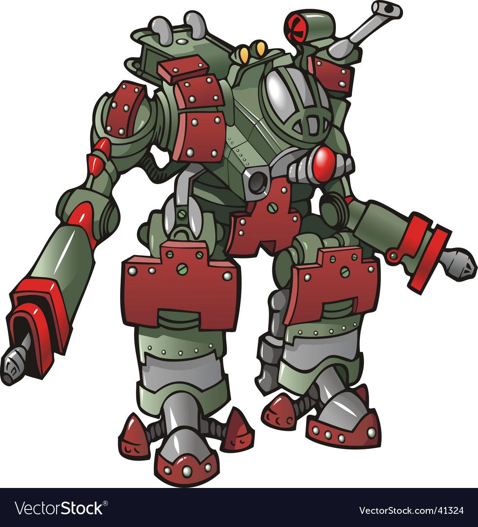Robot warrior vector | Price: 3 Credit (USD $3)