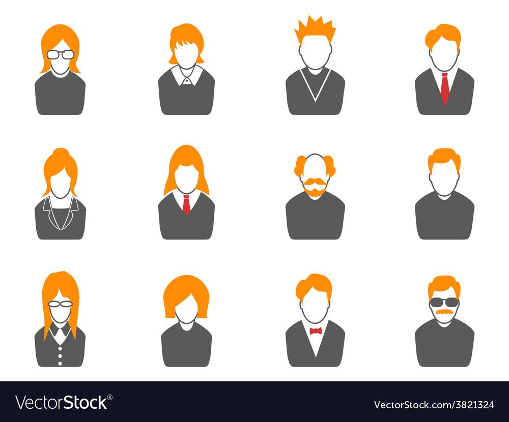 Simple avatar iconsorange series vector | Price: 1 Credit (USD $1)