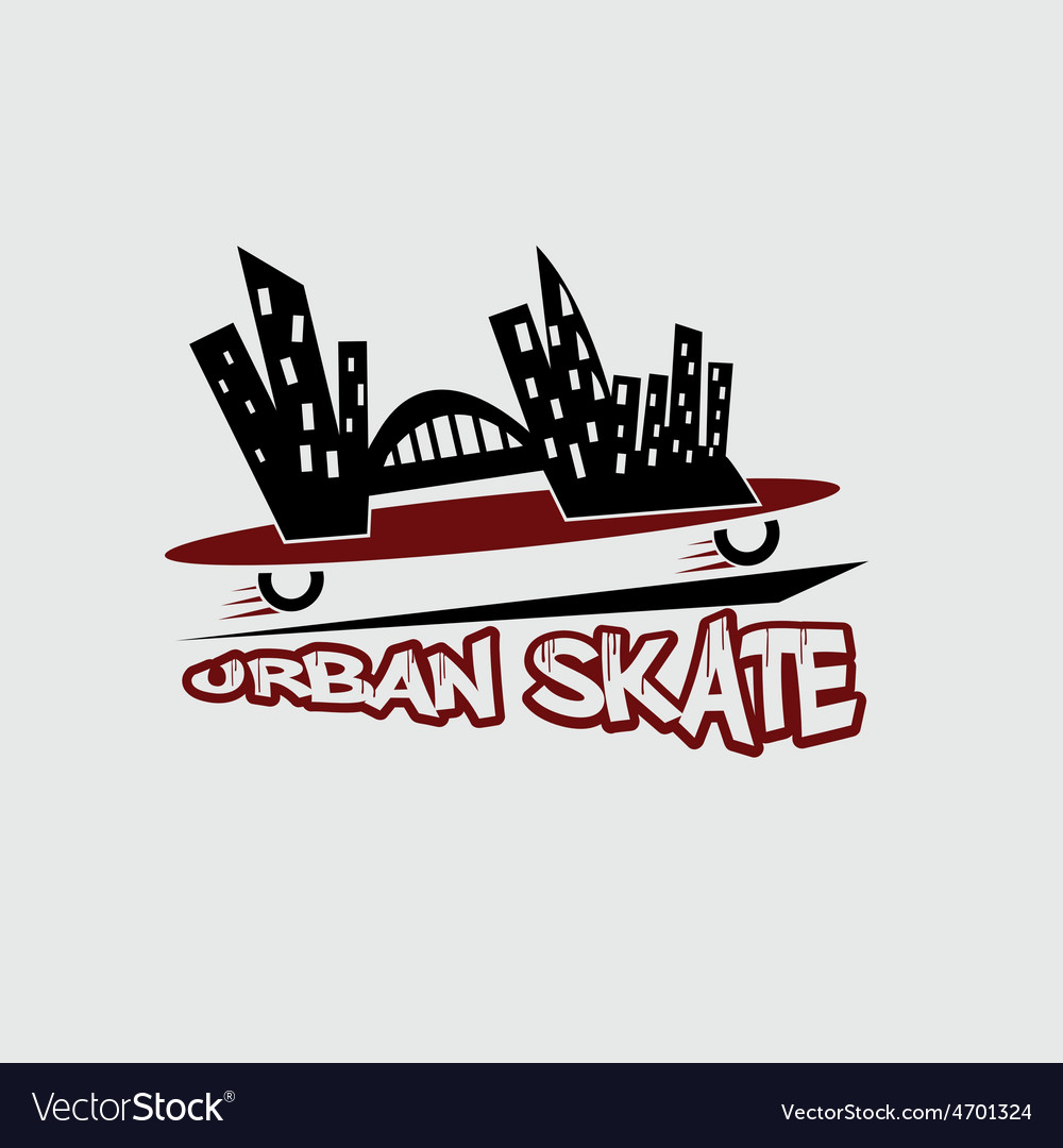Urban skate design template vector | Price: 1 Credit (USD $1)