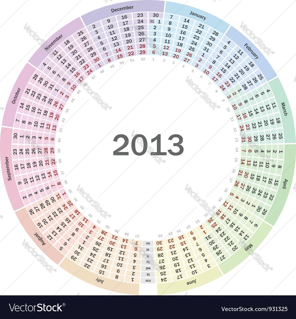 Calendar 2013 vector   Price: 3 Credit (USD $3)