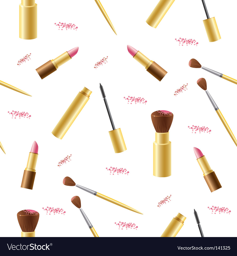 Cosmetics seamless background vector | Price: 1 Credit (USD $1)