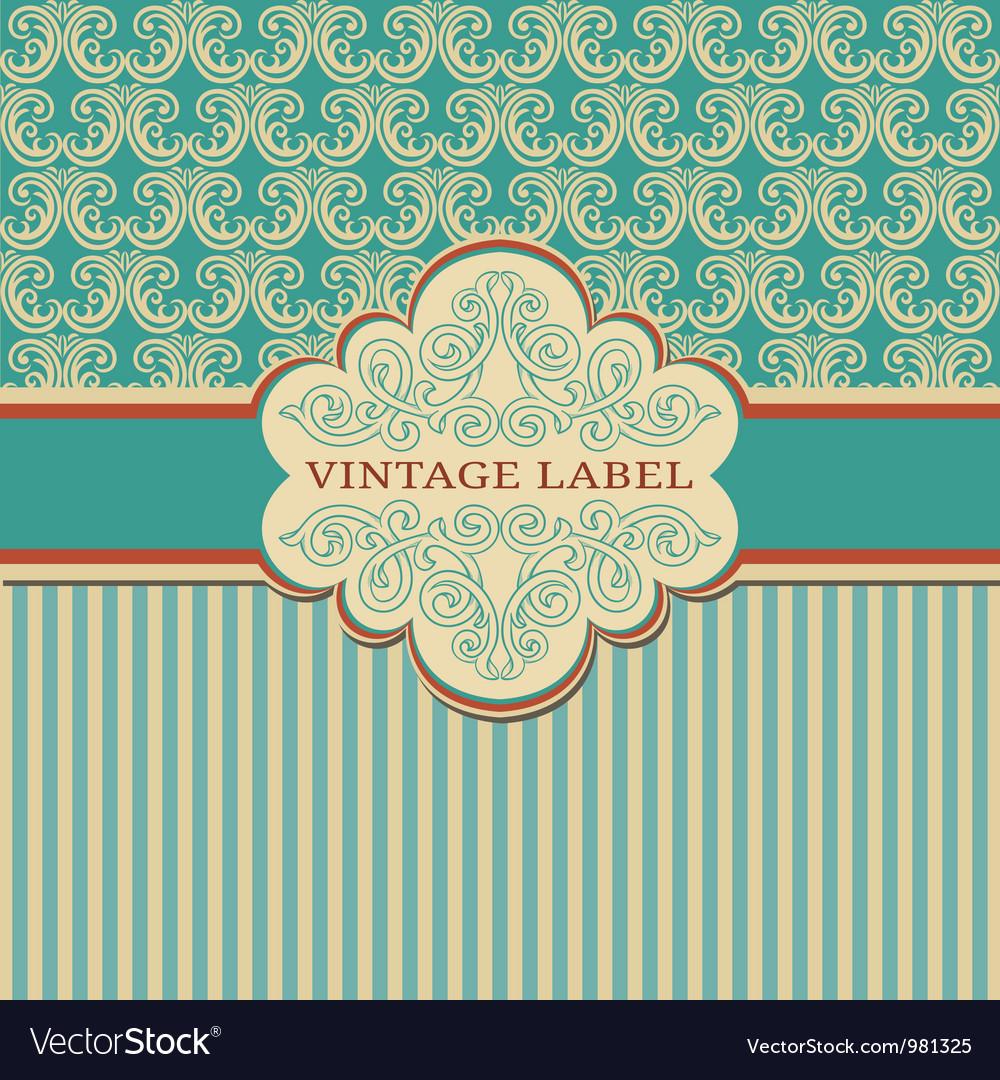Elegant vintage frame vector | Price: 1 Credit (USD $1)
