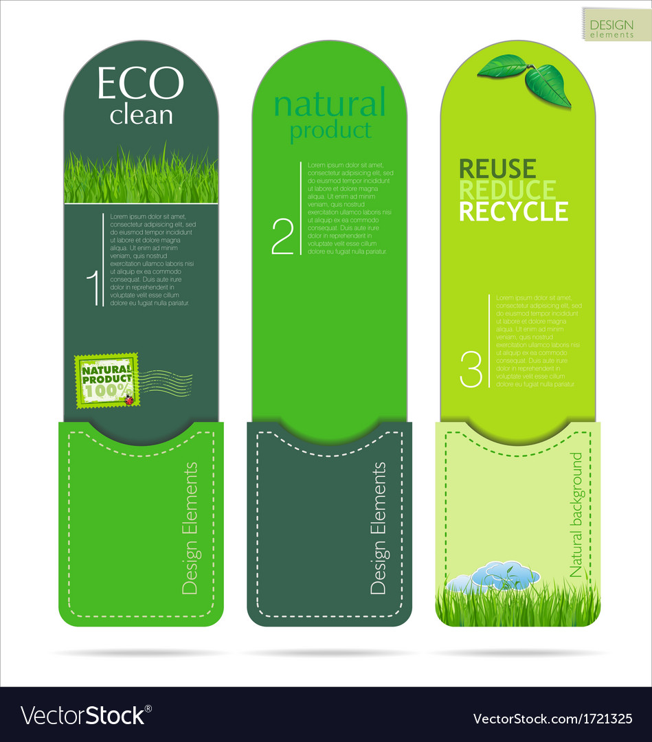 Modern design eco labels vector | Price: 1 Credit (USD $1)