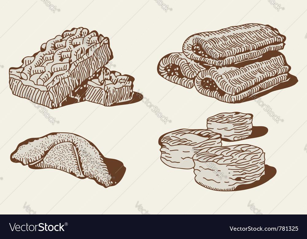 Pastry set vector | Price: 1 Credit (USD $1)