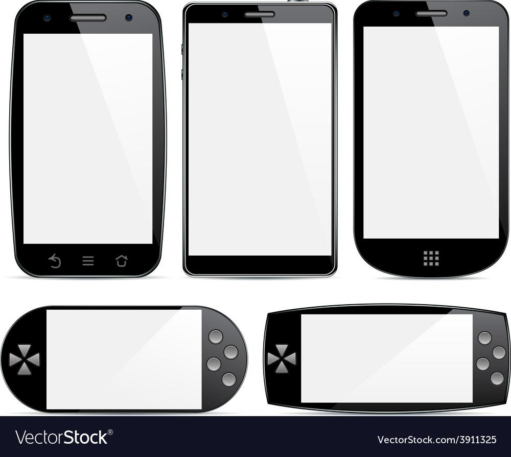 Set of smartphone concepts vector   Price: 1 Credit (USD $1)