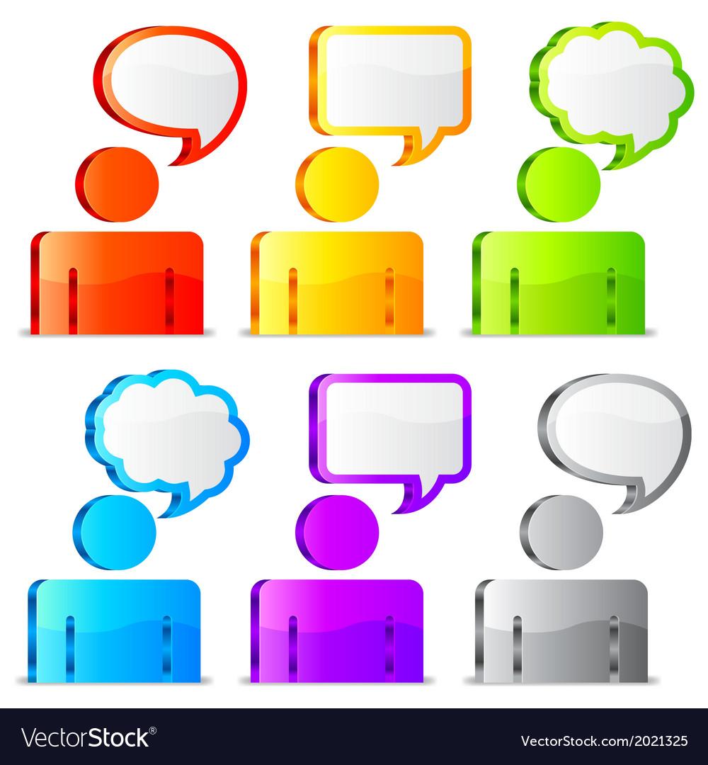 Speech icons vector | Price: 1 Credit (USD $1)