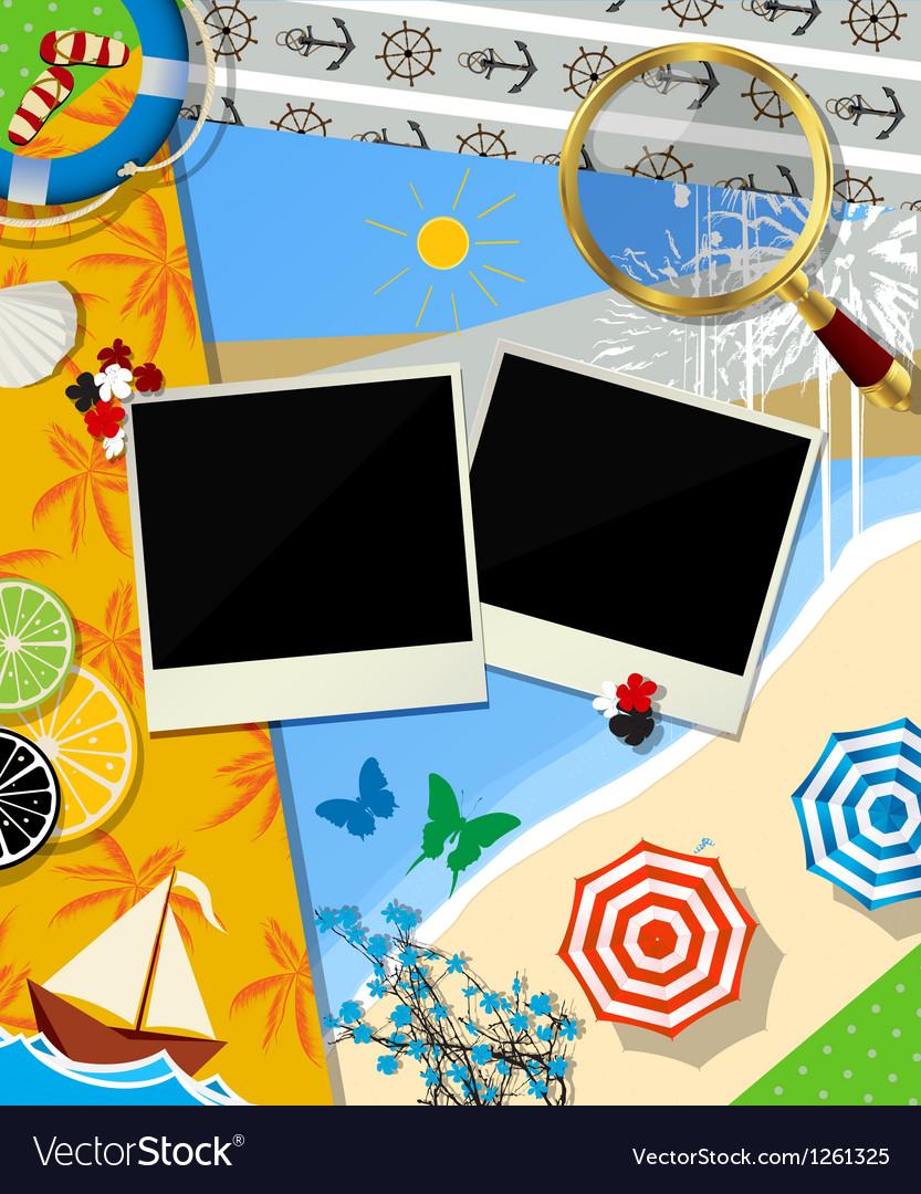 Summer background design vector | Price: 3 Credit (USD $3)