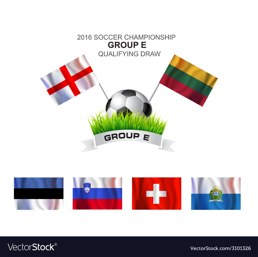 2016 soccer championship group e qualifying draw vector | Price: 1 Credit (USD $1)