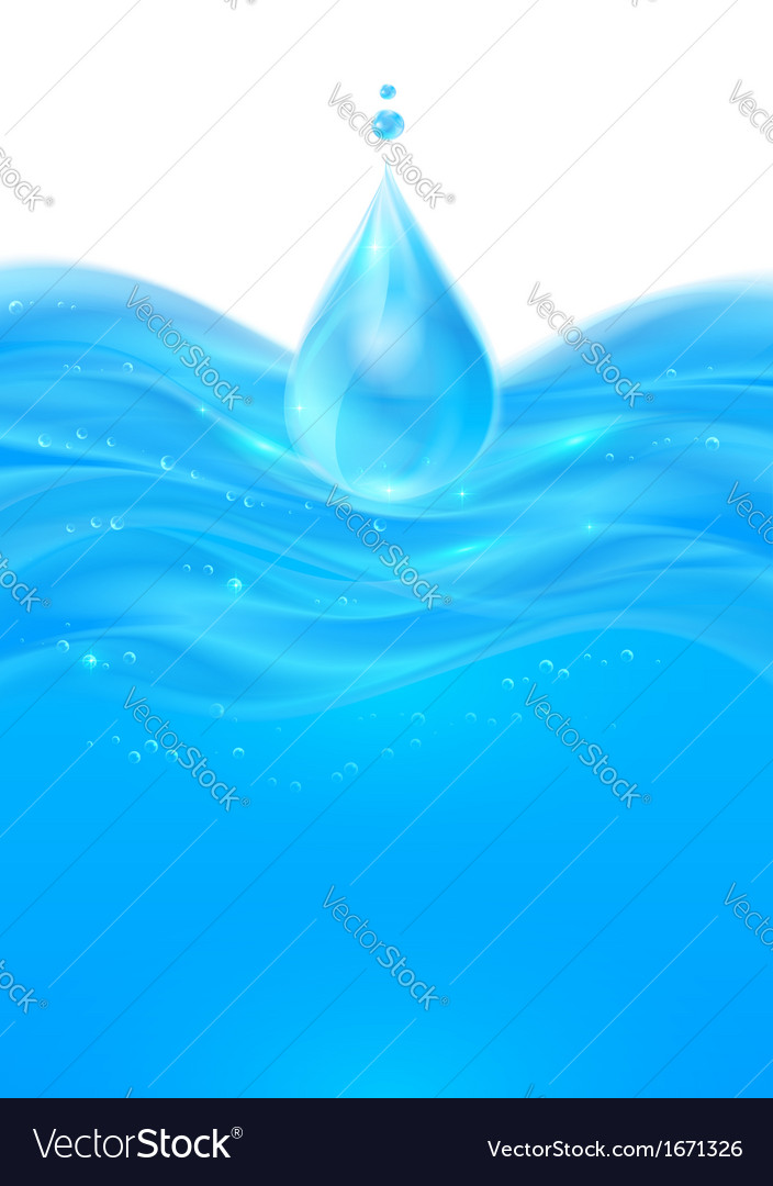 Blue realistic water background vector | Price: 1 Credit (USD $1)