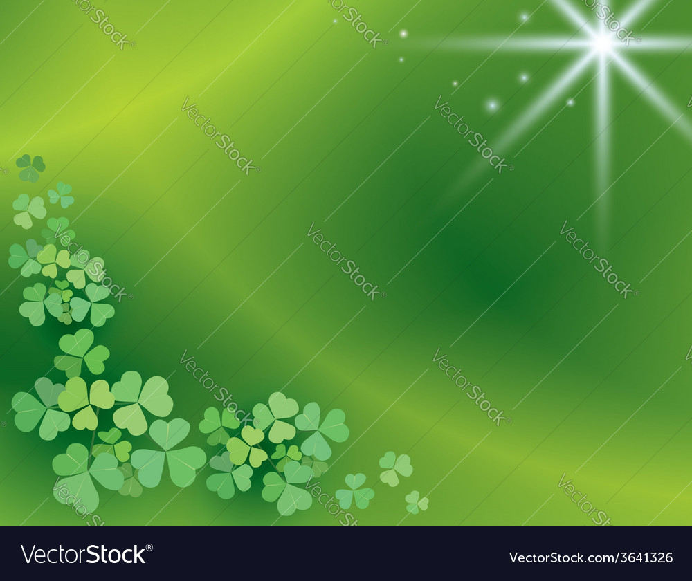 Bright green background with shamrock vector | Price: 1 Credit (USD $1)