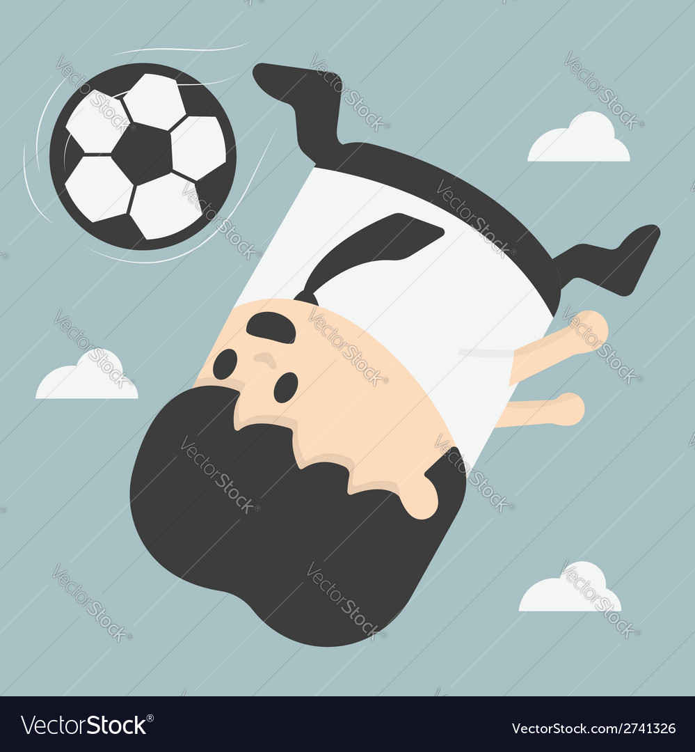 Business man kicking footballeps vector | Price: 1 Credit (USD $1)