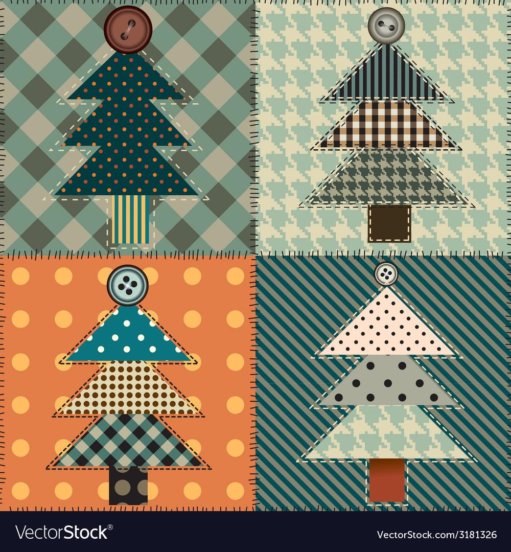 Christmas tree pattern vector   Price: 1 Credit (USD $1)