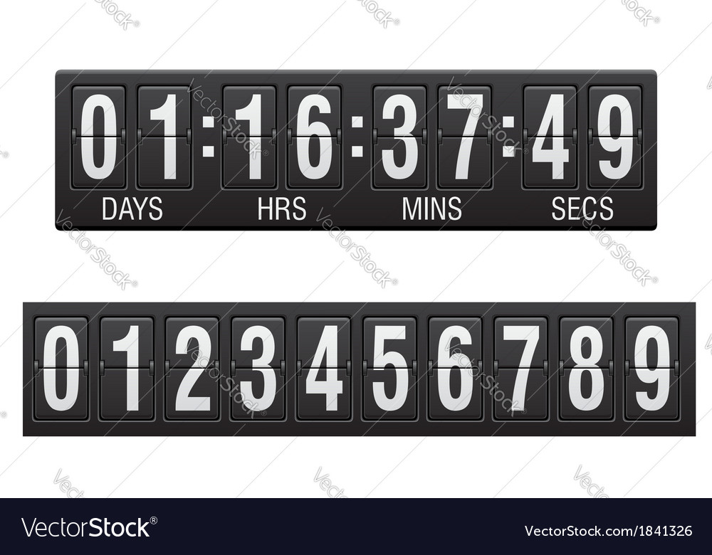 Countdown timer 03 vector | Price: 1 Credit (USD $1)