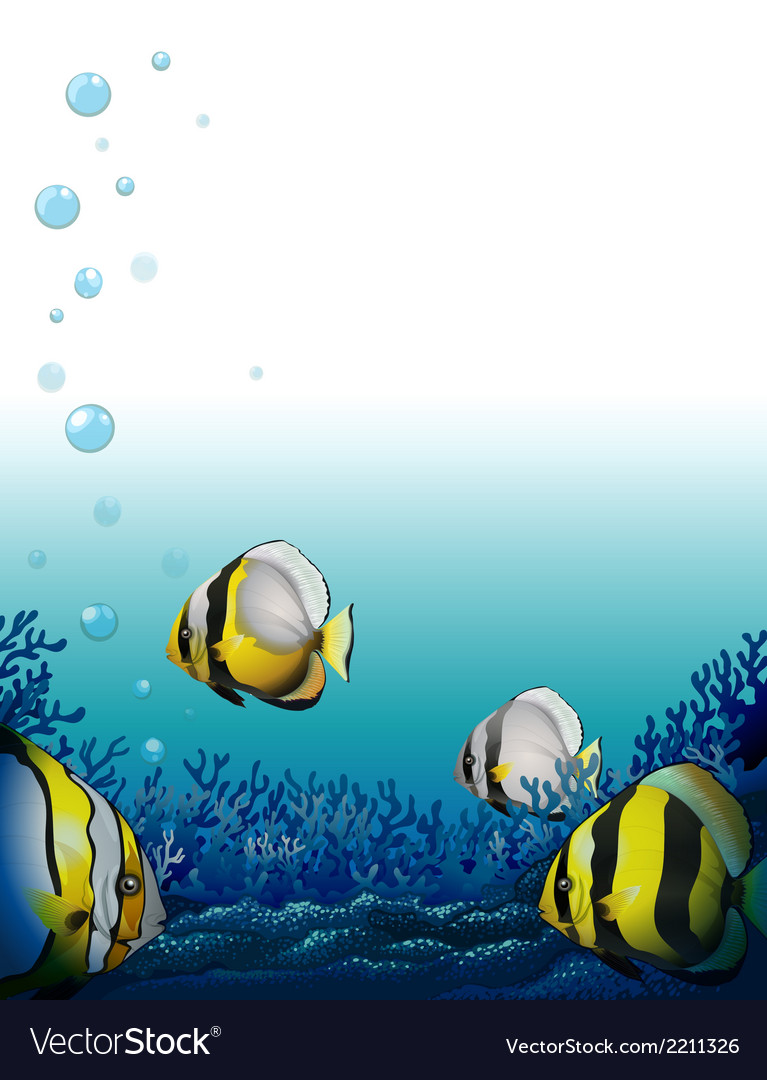 Fishes under the sea vector | Price: 3 Credit (USD $3)