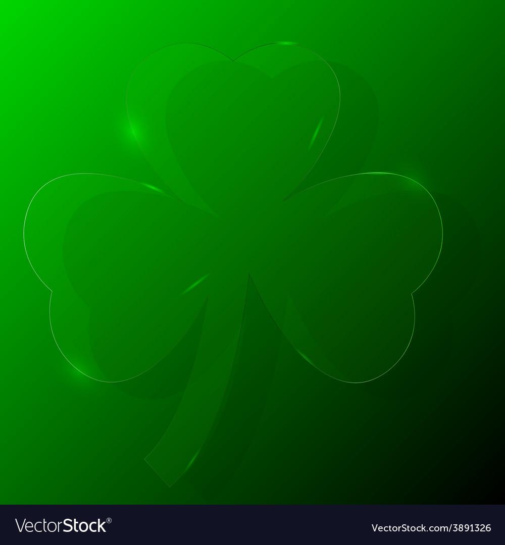 Green shamrock vector | Price: 1 Credit (USD $1)