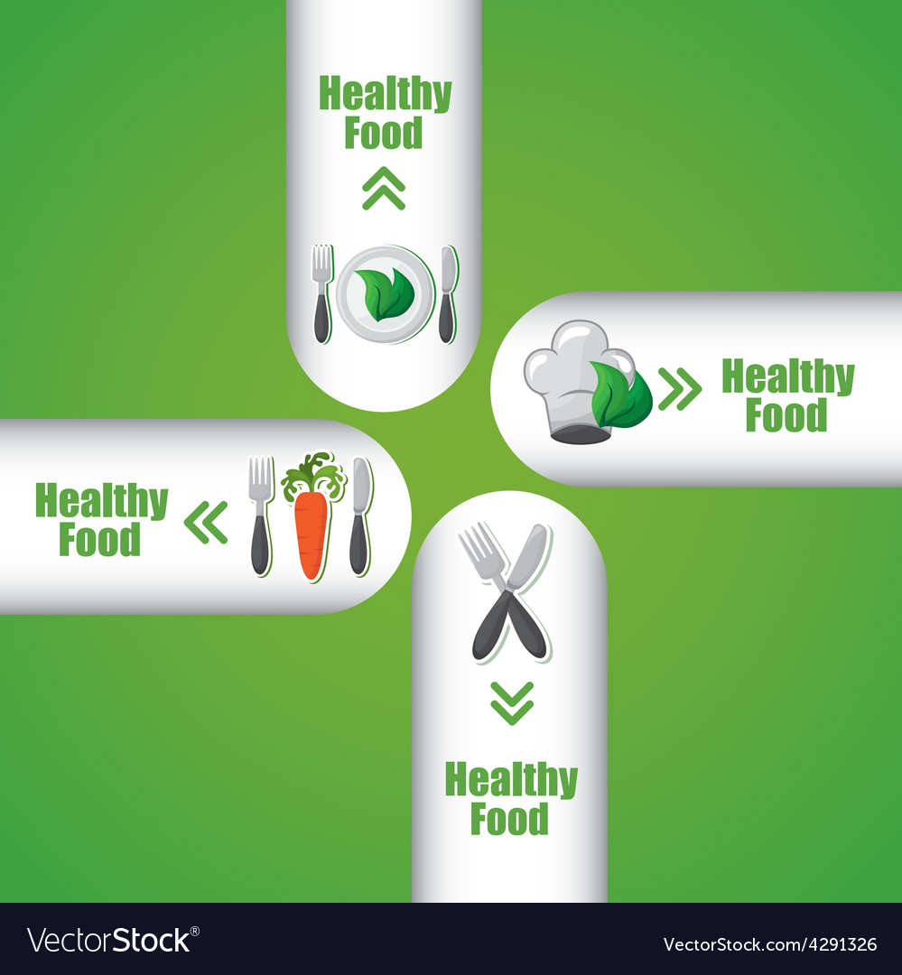 Healthy food infographics vector | Price: 1 Credit (USD $1)