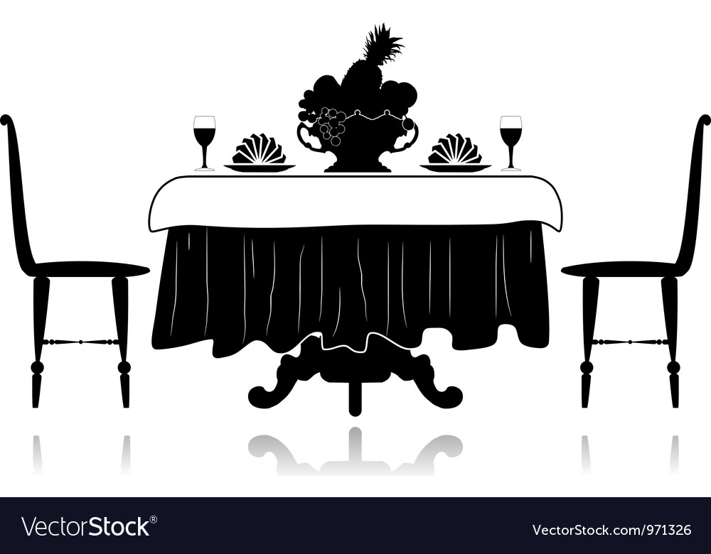 Restaurant little table vector | Price: 1 Credit (USD $1)