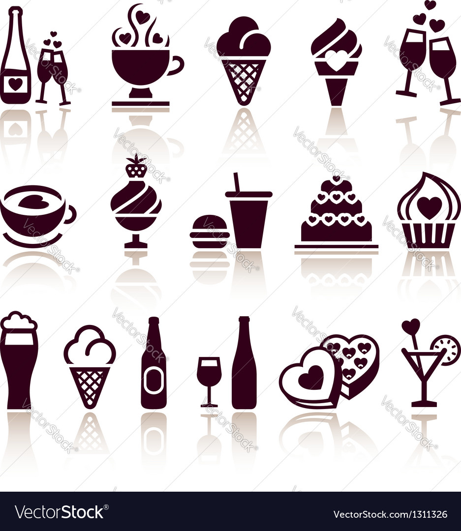 Set food icons vector   Price: 1 Credit (USD $1)