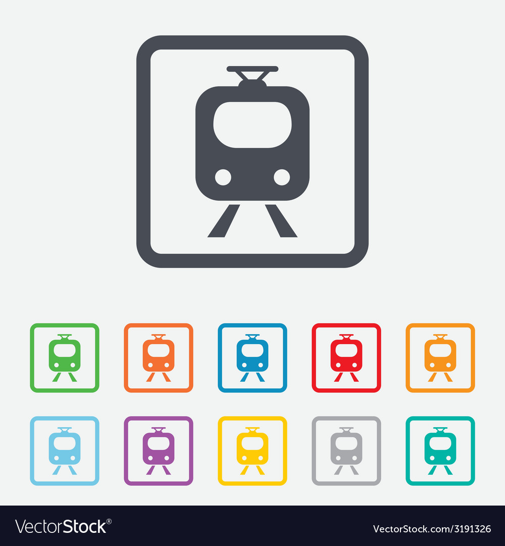Subway sign icon train underground symbol vector | Price: 1 Credit (USD $1)