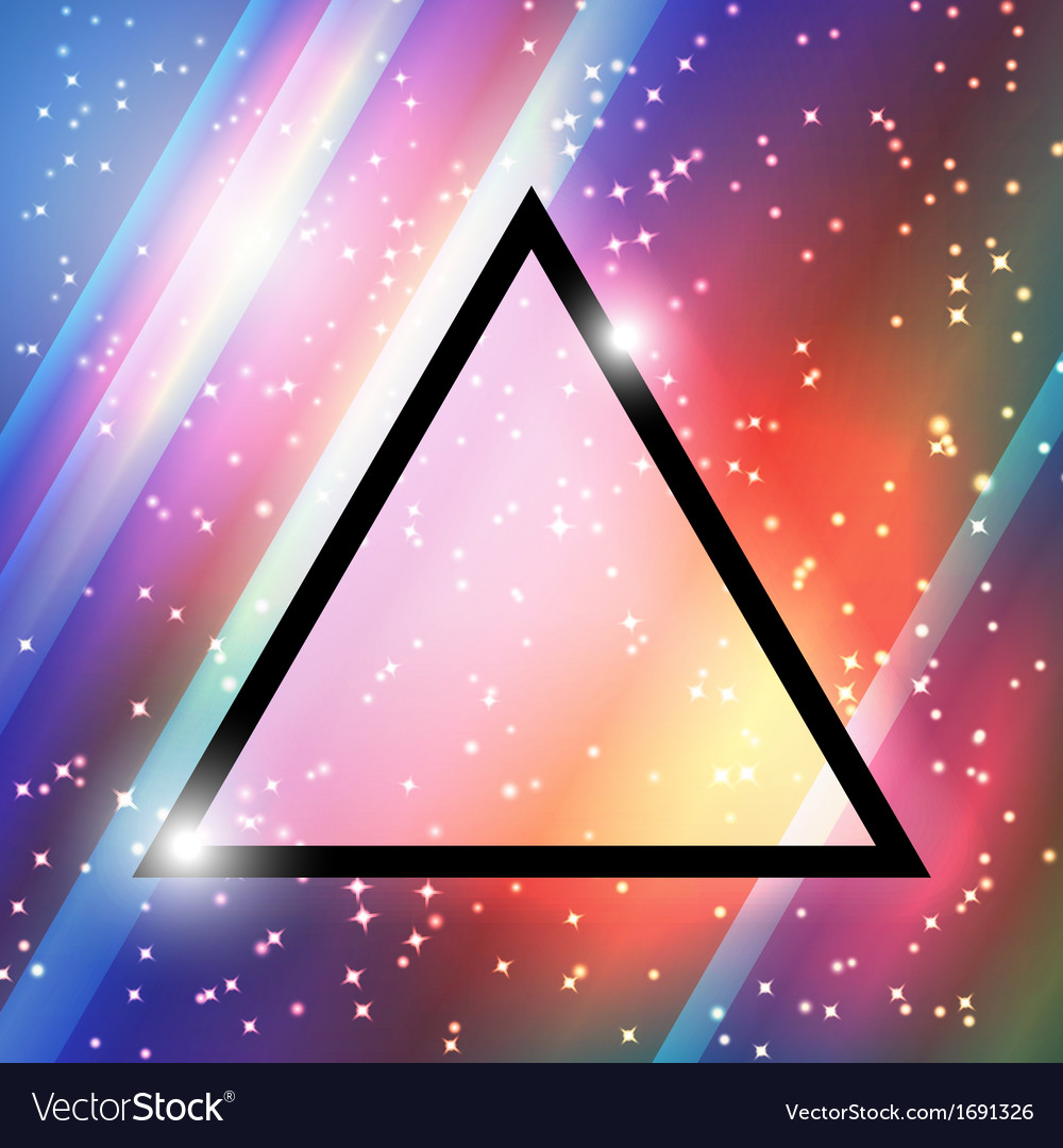 Triangular space design vector | Price: 1 Credit (USD $1)