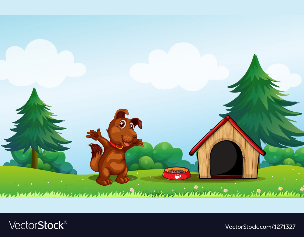 A playful brown puppy vector | Price: 1 Credit (USD $1)