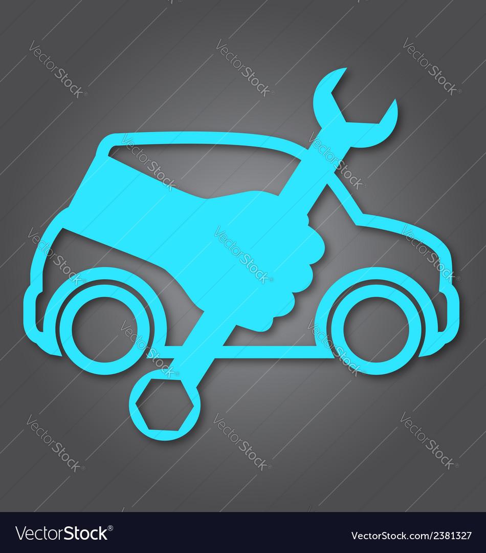 Auto repair design vector | Price: 1 Credit (USD $1)