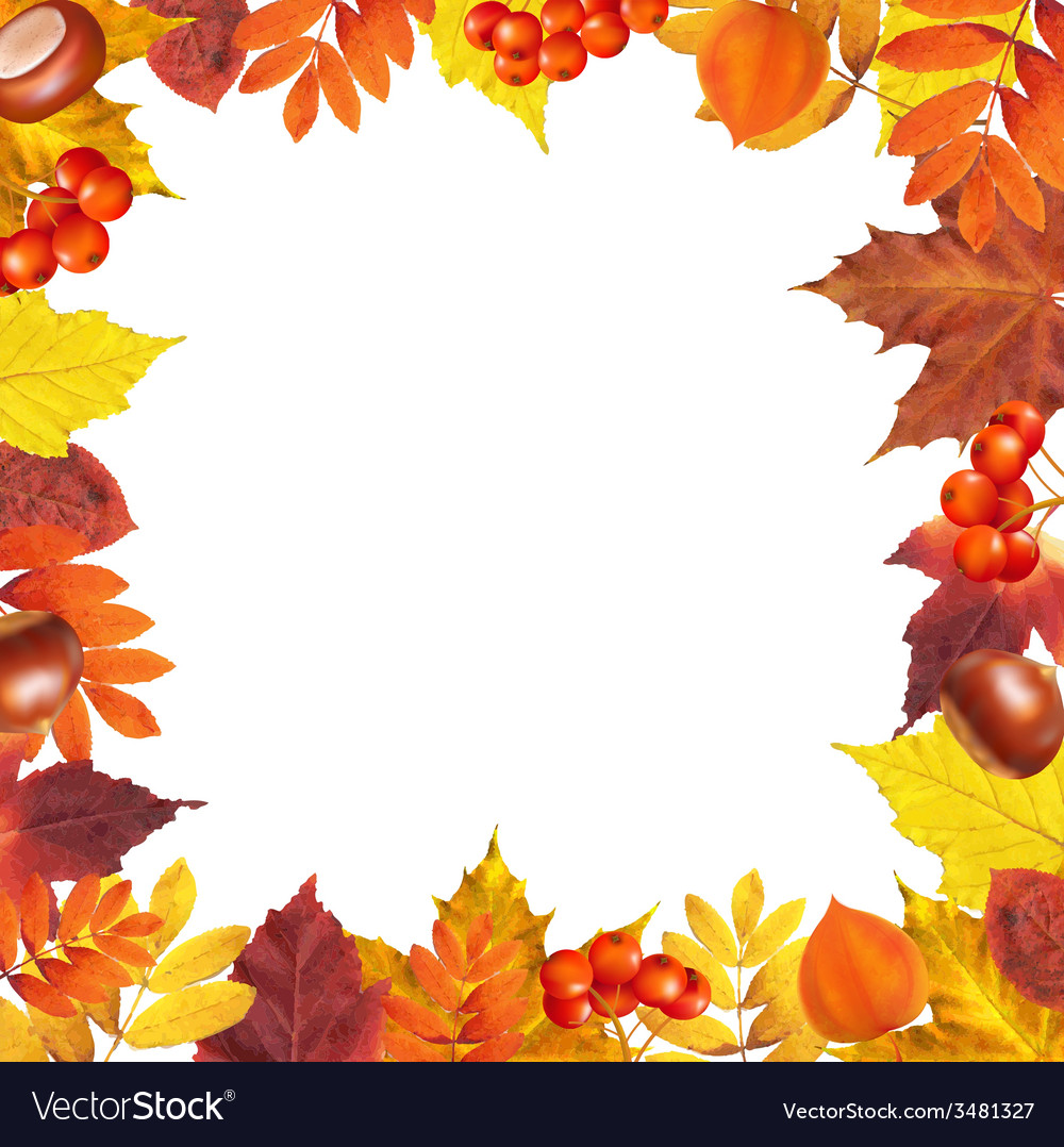 Autumn frame vector | Price: 1 Credit (USD $1)