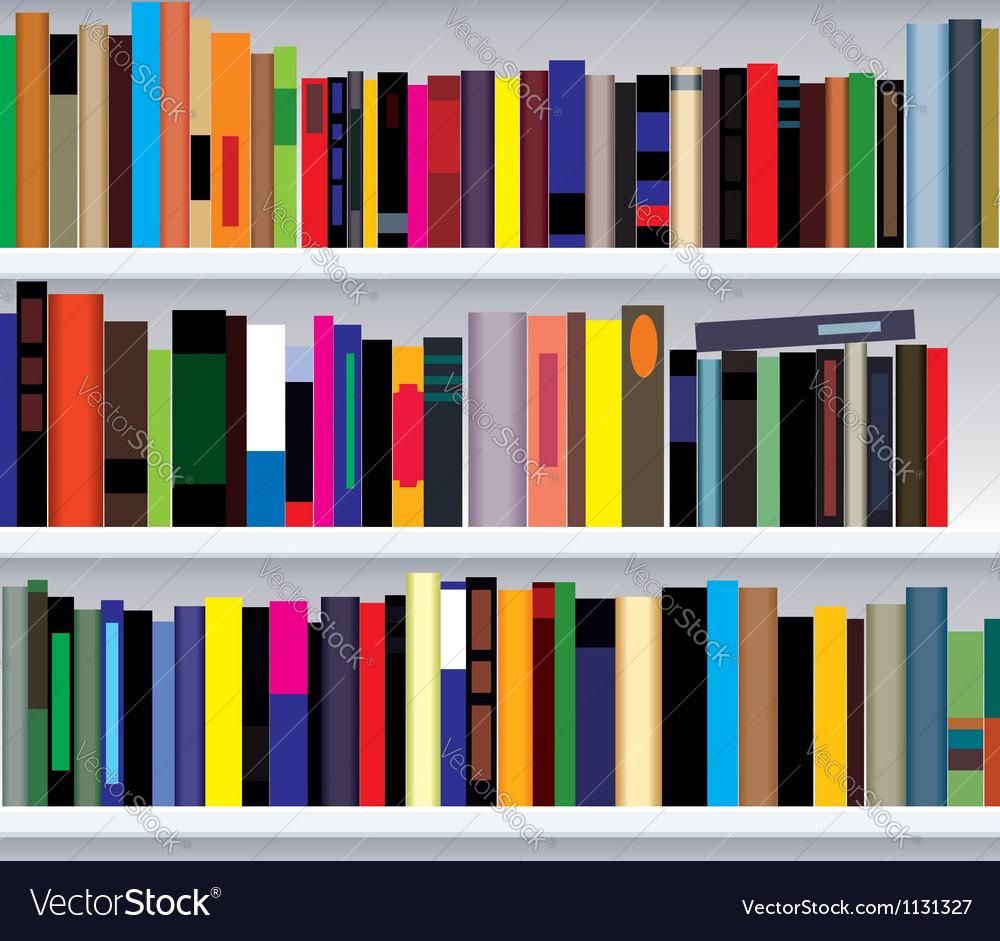 Bookshelf vector | Price: 1 Credit (USD $1)