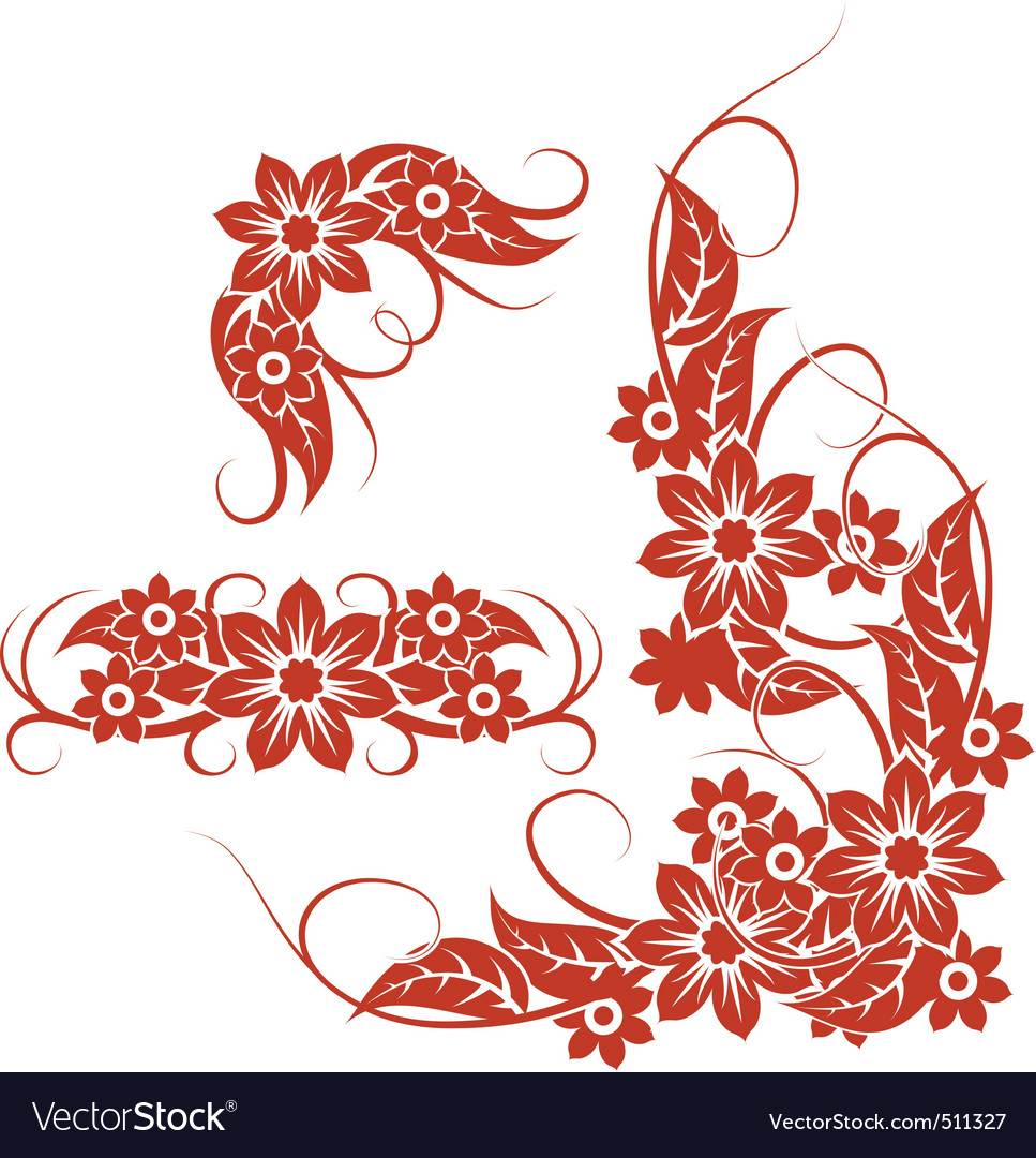 Floral and foliage patterns vector | Price: 1 Credit (USD $1)