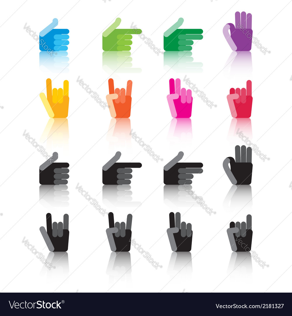 Hand signs vector | Price: 1 Credit (USD $1)
