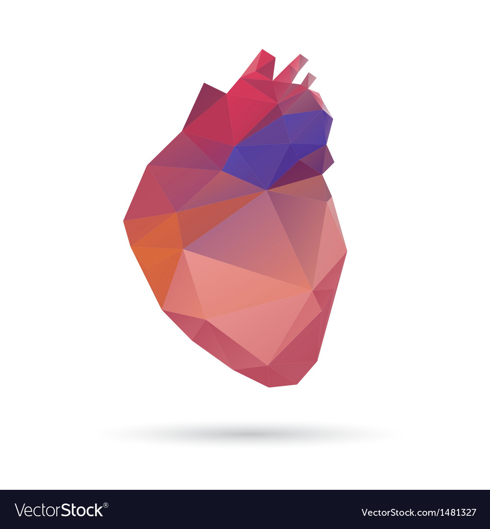 Heart abstract isolated on a white backgrounds vector | Price: 1 Credit (USD $1)
