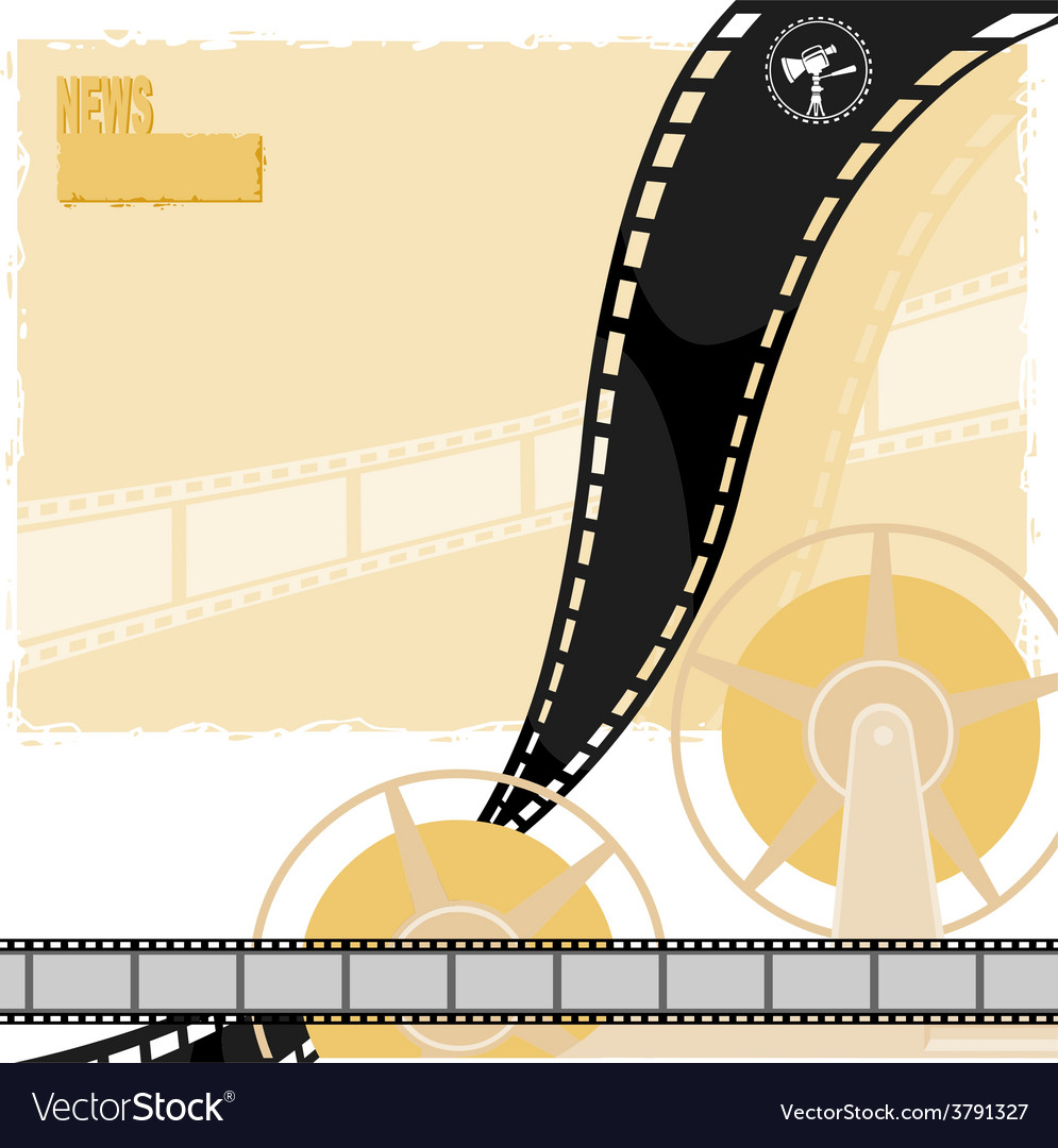 Light background with a reel of film movie camera vector | Price: 1 Credit (USD $1)