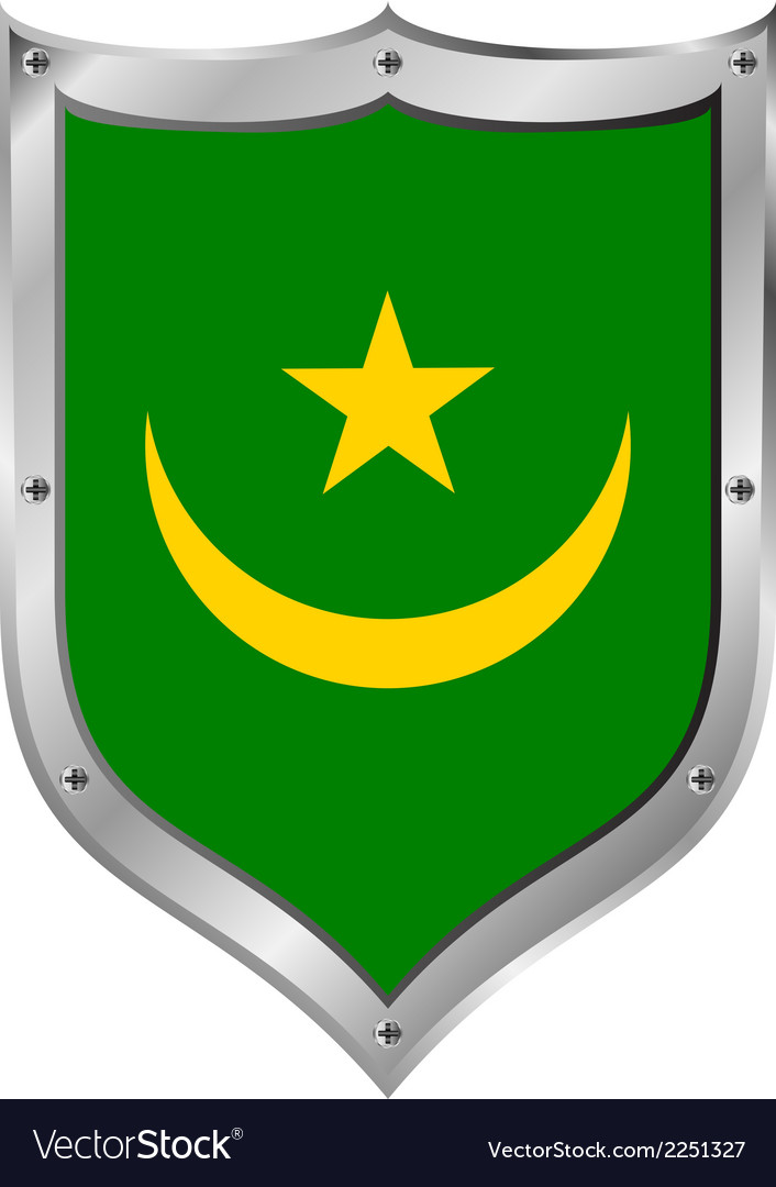 Mauritania flag button vector | Price: 1 Credit (USD $1)