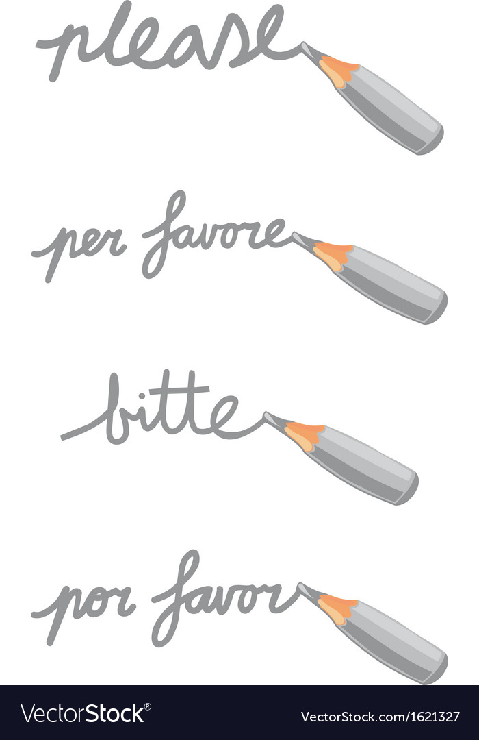 Mini pencil doodle vector | Price: 1 Credit (USD $1)
