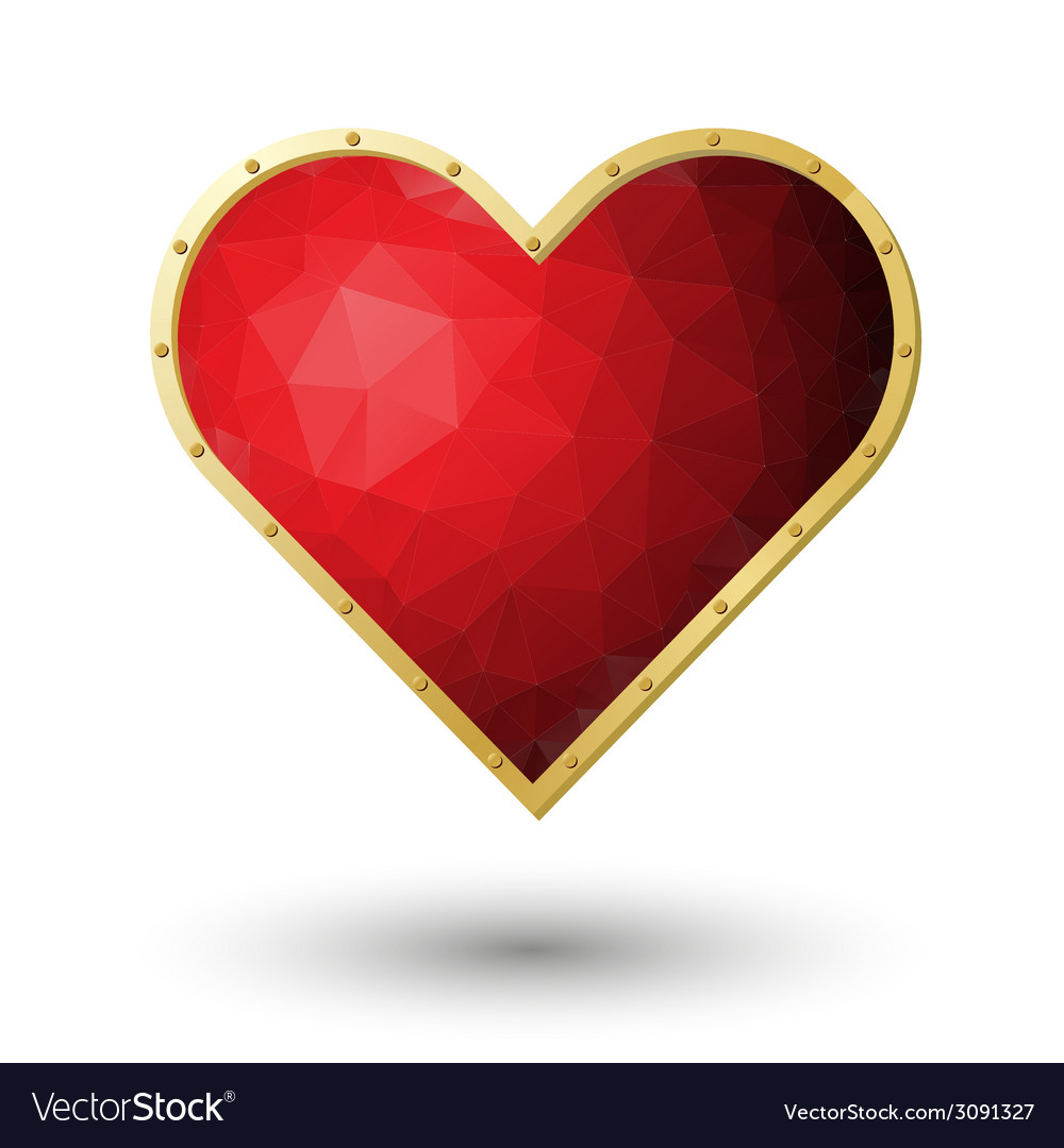 Red heart jewel vector | Price: 1 Credit (USD $1)