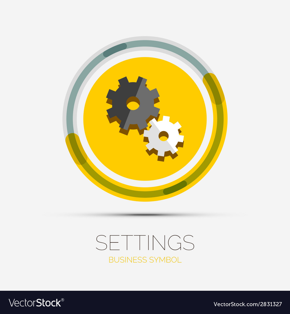 Settings icon company logo minimal design vector | Price: 1 Credit (USD $1)
