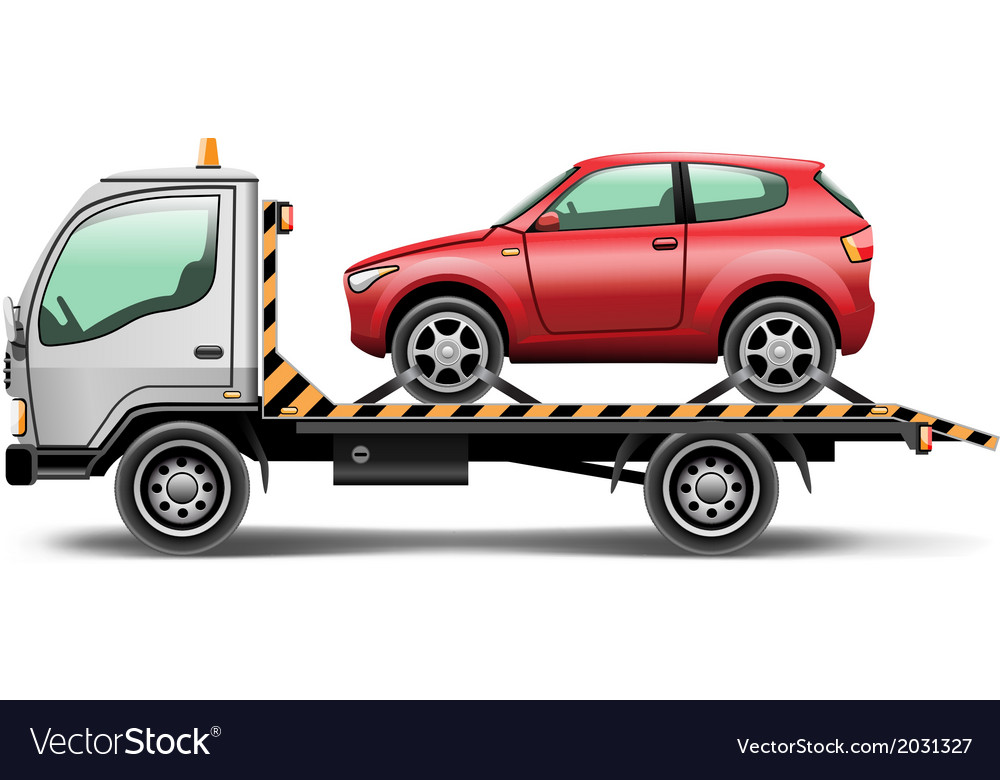 Towing truck vector | Price: 3 Credit (USD $3)