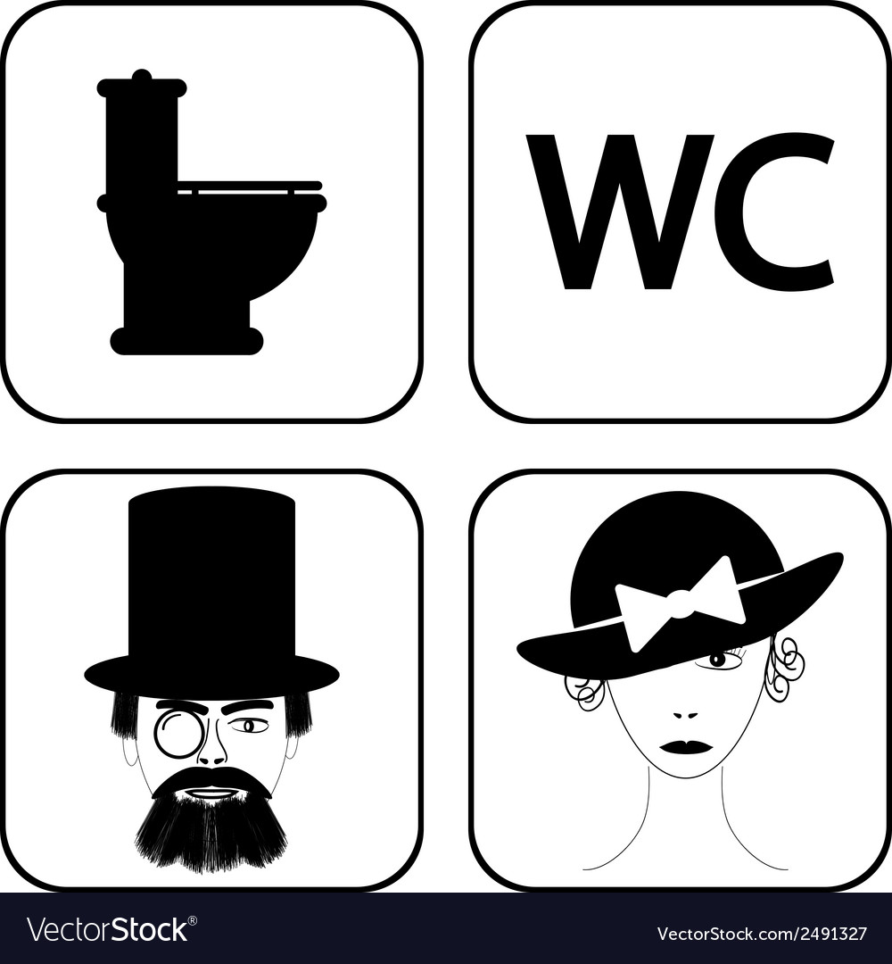 Wc icons vector | Price: 1 Credit (USD $1)