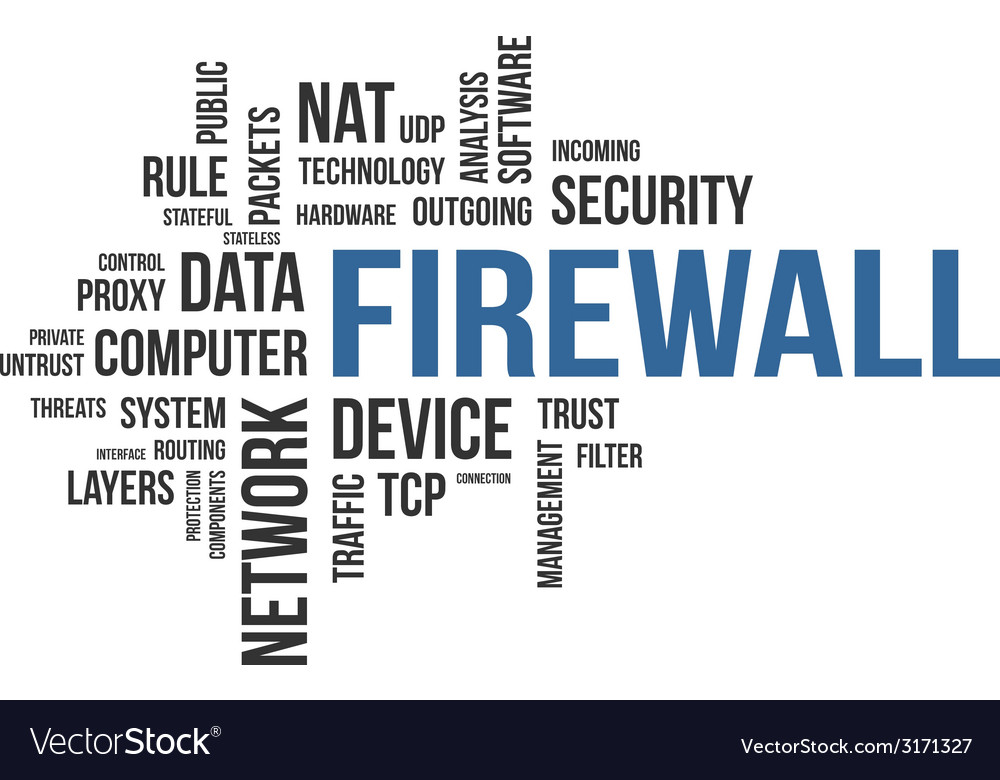 Word cloud firewall vector | Price: 1 Credit (USD $1)