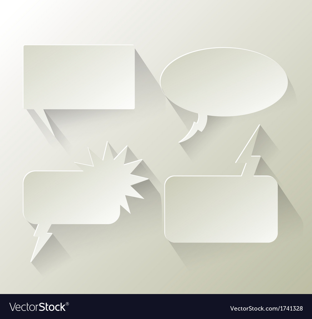 Abstract design speech bubble copyspace vector | Price: 1 Credit (USD $1)