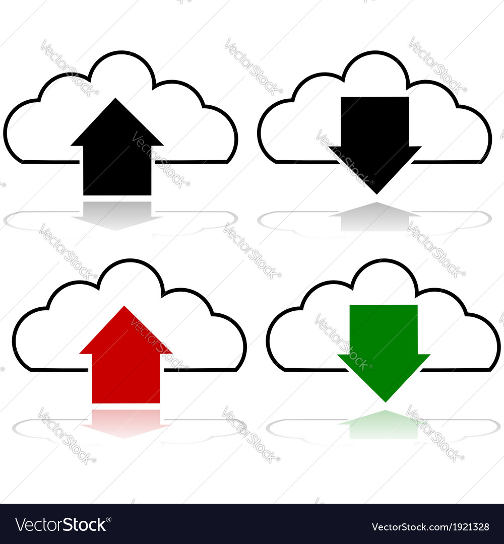 Cloud upload and download vector | Price: 1 Credit (USD $1)