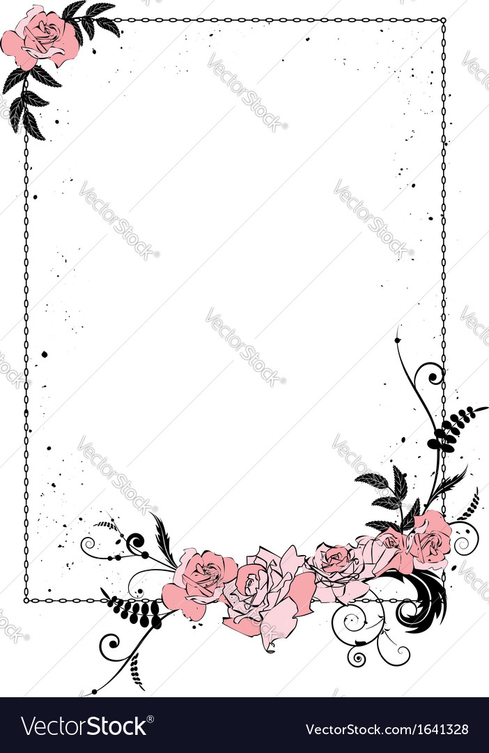 Floral frame with chain vector | Price: 1 Credit (USD $1)