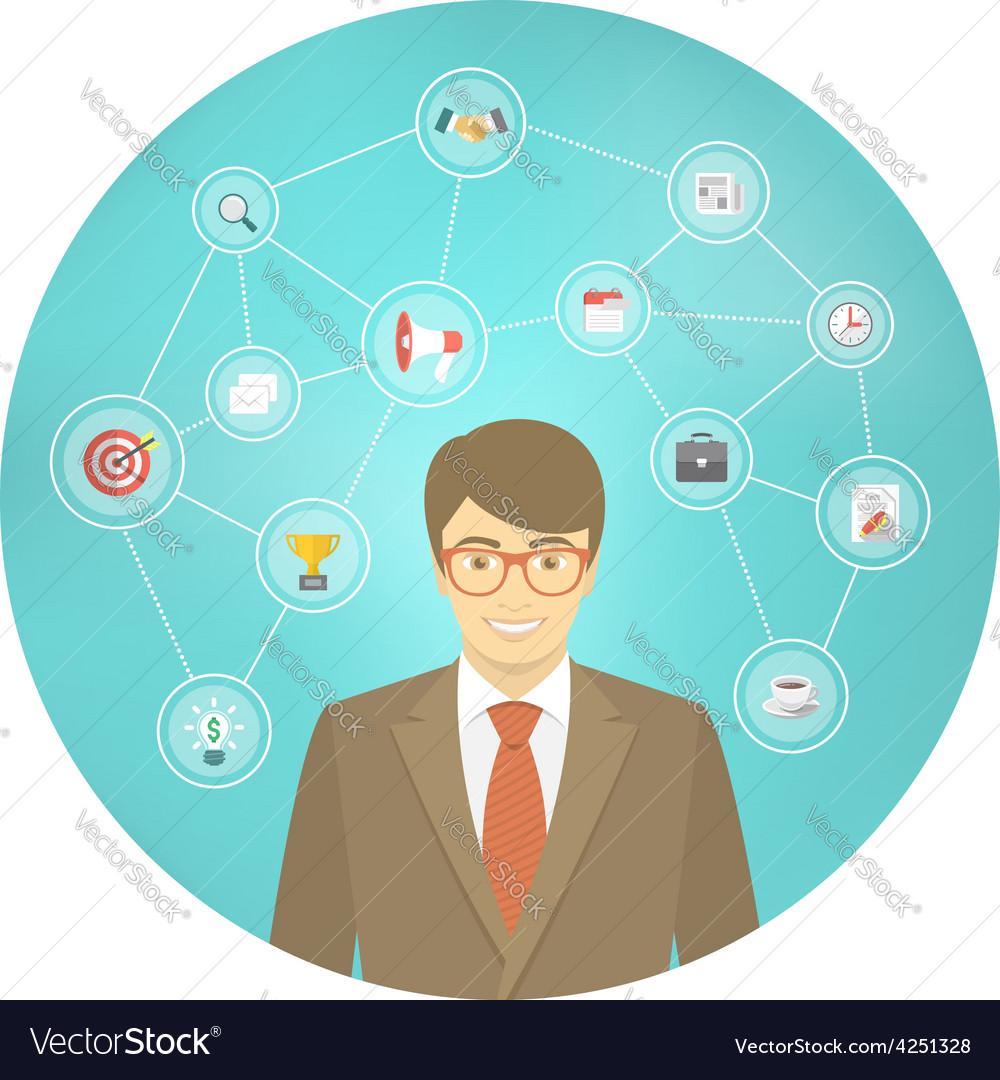 Modern businessman conceptual infographics vector | Price: 1 Credit (USD $1)