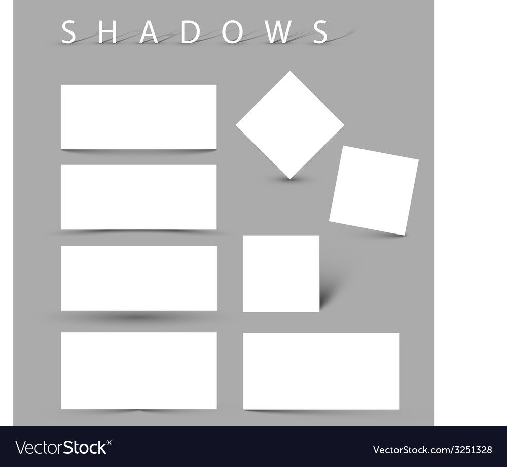 Set of evctor shadow effects vector   Price: 1 Credit (USD $1)