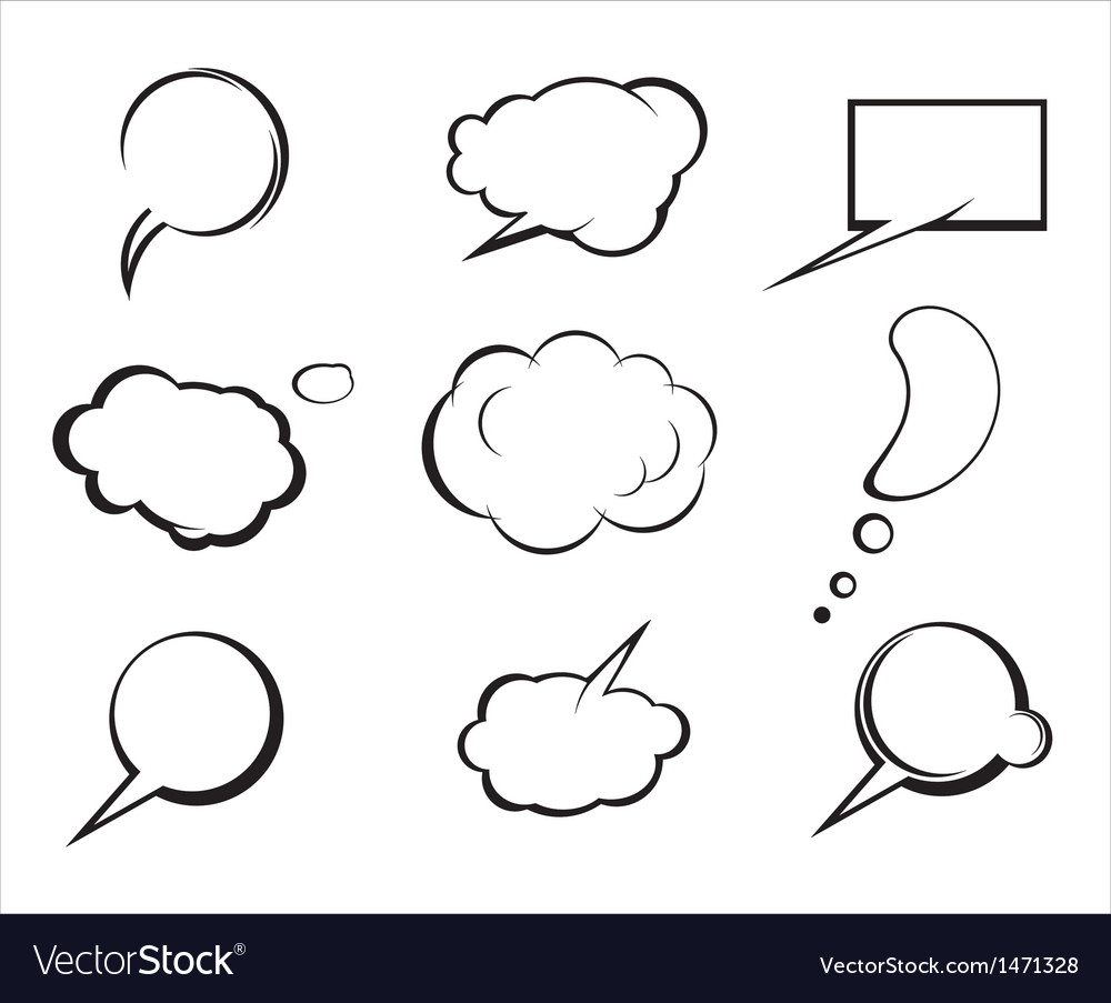 Set of speech and thought elements vector | Price: 1 Credit (USD $1)