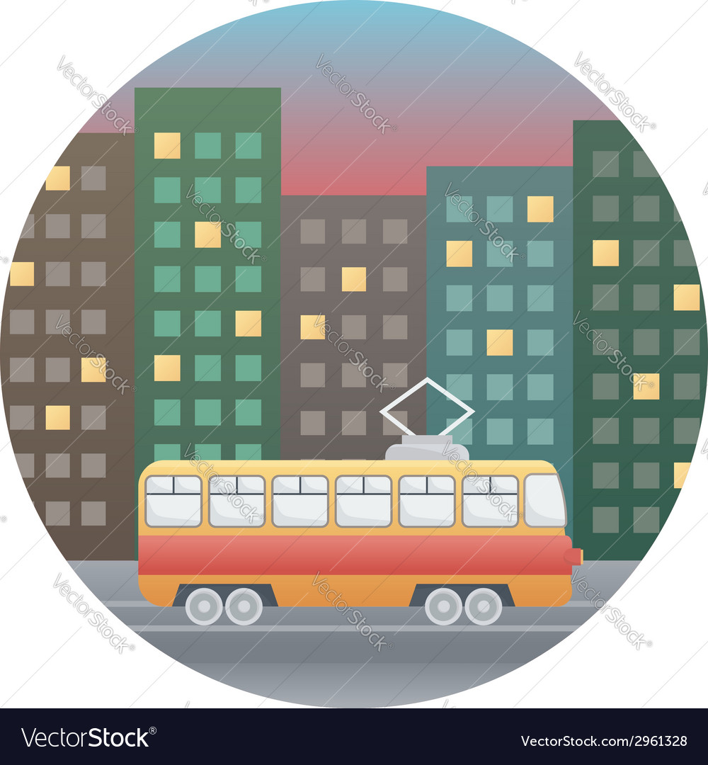 Tram detailed vector | Price: 1 Credit (USD $1)