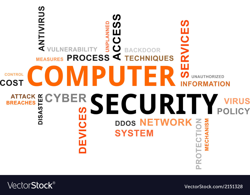 Word cloud computer security vector | Price: 1 Credit (USD $1)